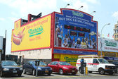 The Nathan s hot dog eating contest Wall of Fame at Coney Island, New York — Stock Photo