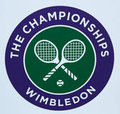 Wimbledon tennis championship emblem — Stock Photo