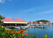 Gustavia Harbor, St. Barts, French West Indies — Stock Photo