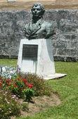 Socha thomas moore na bermudy. thomas moore byl irský básník, lyru a přítel lorda byrona. — Stock fotografie