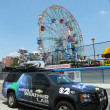 Постер, плакат: CBS Channel 2 mobile weather lab in Brooklyn NY