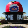 The Famous Shea Stadium Home Run Apple on Mets Plaza in the front of Citi Field — Stock Photo