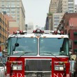 Stock Photo: FDNY Tower Ladder 12 truck in Manhattan