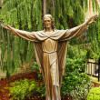 Bronze statue of Jesus Christ — Stock Photo
