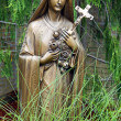 Bronze Statue of Virgin Mary — Stock Photo