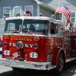 Stock Photo: Fire truck on display at Mill Basin car show