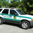 Stock Photo: US Park ranger car in NYC park in Brooklyn