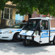 Stock Photo: NYPD cars in Brooklyn, NY