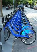 Citi estação de bicicleta em manhattan — Foto Stock