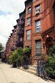 New York City brownstones — Stock Photo