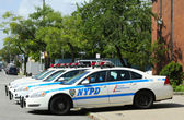 NYPD cars in Brooklyn, NY — Stock Photo