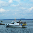 Lobster boats at Frenchman Bay near Bar Harbor, Maine — Stock Photo