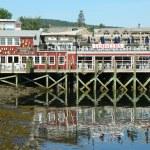 Dockside lobster restaurant in historic Bar Harbor, Maine — Stock Photo #28378847