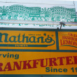 Nathan's original restaurant sign at Coney Island, New York. — Stock Photo #28378883