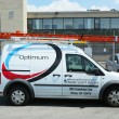 Stock Photo: Optimum cable service truck in Brooklyn