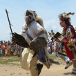Stock Photo: Unidentified Native Americdancers at NYC Pow Wow in Brooklyn