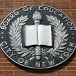 The seal of the City of New York Board of Education — Stock Photo