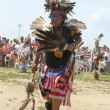 Stock Photo: Unidentified young Native Americdancer at NYC Pow Wow in Brooklyn
