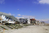 Destroyed beach houses four months after Hurricane Sandy — Stock Photo