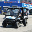 Stock Photo: NYPD vehicle at Coney Island Boardwalk in Brooklyn