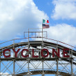 Постер, плакат: Historical landmark Cyclone roller coaster in the Coney Island section of Brooklyn