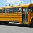 Stock Photo: YeshivSchool bus at Coney Island in Brooklyn