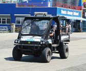 NYPD vehicle at Coney Island Boardwalk in Brooklyn — Stock Photo