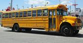 Yeshiva School bus at Coney Island in Brooklyn — Stock Photo