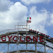 Historical landmark Cyclone roller coaster at the Coney Island section of Brooklyn — Stock Photo #29410167