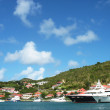 Stock Photo: Megyachts in GustaviHarbor at St. Barts, French West Indies