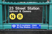 Subway entrance at 23rd Street in NYC — Stock Photo