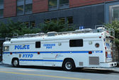 NYPD Command Post in the World Trade Center area of Manhattan — Stock Photo