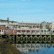 Dockside lobster restaurant in historic Bar Harbor, Maine — Stock Photo