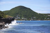 The picturesque view of Lorient Bay at St Barts, French West Indies — Stock Photo