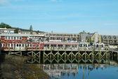 Dockside lobster restaurant in historic Bar Harbor, Maine — Stock Photo