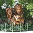 Stock Photo: Siegfried and Roy statue at Mirage Casino in Las Vegas