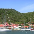 Stock Photo: GustaviHarbor at St Barths, French West Indies