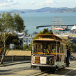 Stock Photo: Famous cable car in SFrancisco, USA