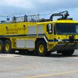 brand vrachtwagen in princess juliana luchthaven, St.Maarten — Stockfoto #29865017