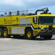 Fire truck in Princess Juliana Airport, St. Maarten — Stock Photo