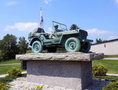 Maine State World War II Memorial in Bangor, Maine — Stock Photo