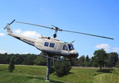 Huey Helicopter UH-1D at the Vietnam War Memorial in Bangor, Maine — Stock Photo