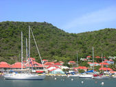 Gustavia Harbor at St Barths, French West Indies — Stock Photo