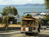 The famous cable car in San Francisco, USA — Stock Photo