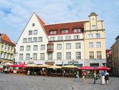 Central Town Hall Square in Tallinn, Estonia — Stock Photo