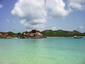 The beautiful Eden Rock hotel at St Barts, French West Indies — Stock Photo