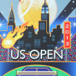 Stock Photo: Billie JeKing National Tennis Center ready for US Open 2013 tournament
