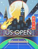 Jean billie rey centro nacional del tenis listo para el torneo abierto de 2013 — Foto de Stock
