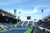 Grandstand Stadium at the Billie Jean King National Tennis Center ready for US Open tournament — Stock Photo