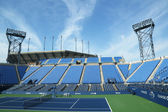 Luis Armstrong Stadium at the Billie Jean King National Tennis Center ready for US Open tournament — Stock Photo